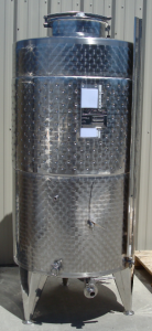 1000L FCGS no front manway - Stainless Steel Wine Tank